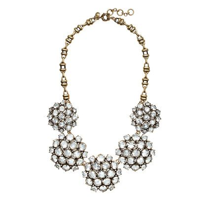 J.Crew   Crystal Rosette Necklace