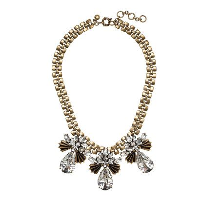 J.Crew  Fanned Droplets Necklace