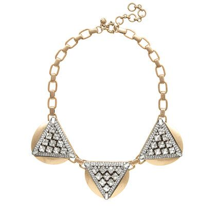 J.Crew  Crystal Triangles Necklace