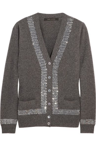 Marc Jacobs  Sequin-Embellished Cashmere Cardigan