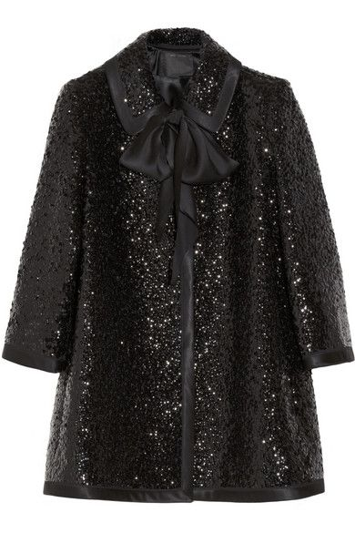 Marc Jacobs  Sequin-Embellished Wool Coat