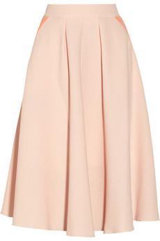 Roksanda Ilincic  Tilton Wool-Blend Crepe Skirt