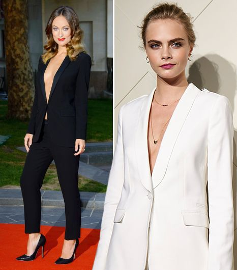 No Shirt, No Problem. The Sexy Way To Wear Your Pantsuit