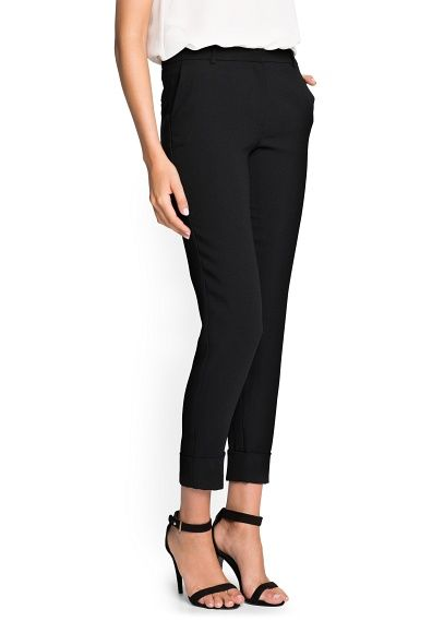 Mango  Crepe Suit Trousers