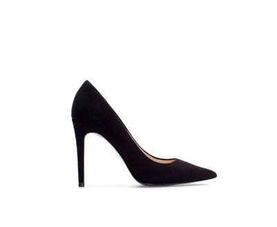 Zara  Suede Leather High Heel Court Shoes