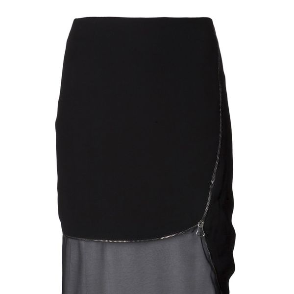 Altuzarra  Black Layered Zip-Trimmed Jodie Skirt