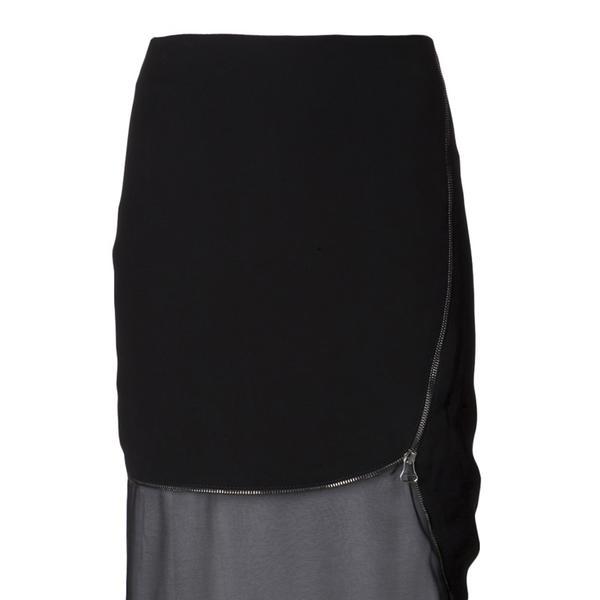 Altuzarra  Black Layered Zip-Trimmed Jodie Skirt