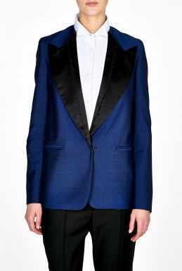 Acne  Cast Tuxedo Jacket with Contrast Lapel
