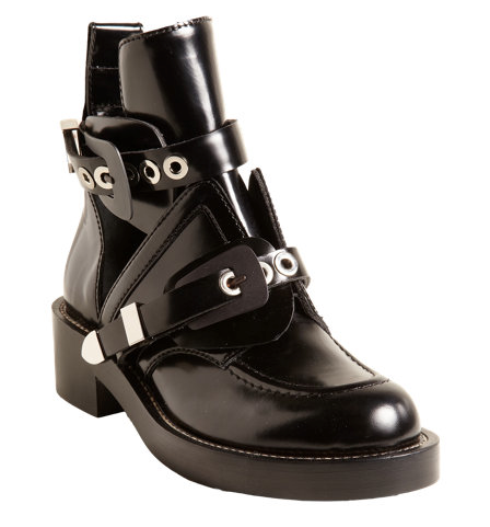 Balenciaga Buckle Strap Ankle Boots