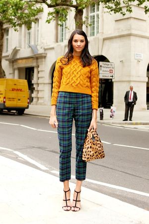 Mustard Cable Knit Sweater, 2 Ways: Check Out The Street Style Inspiration