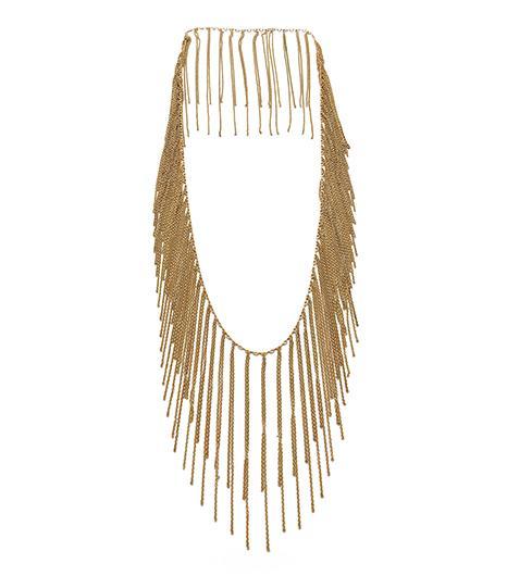 Fallon Fallon Classique Fringe Necklace