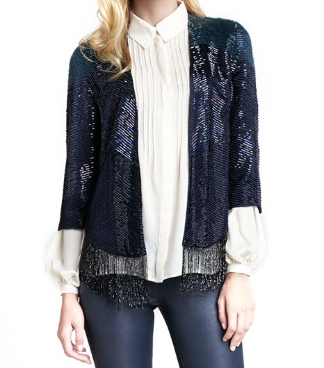 Haute Hippie Haute Hippie Flapper Fringe-Trim Beaded Jacket
