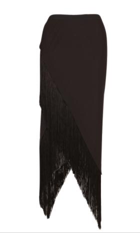 Willow  Angle Cut Fringe Skirt