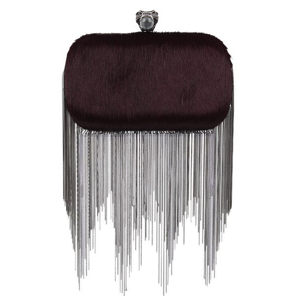 House of Harlow  Bordeaux Jude Clutch