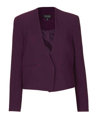 Topshop  Crepe Hidden Label Crop Jacket