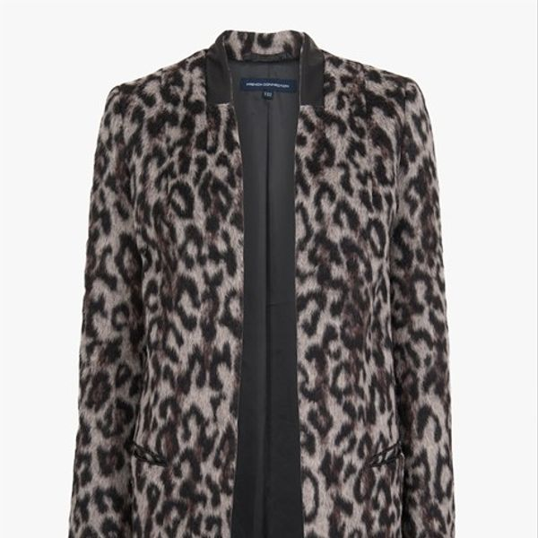 Mango  Teddy Leopard Coat
