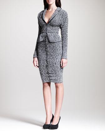 Nina Ricci Tweed Peplum Jacket