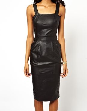 ASOS  Midi Leather Dress