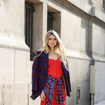 Feminine Plaid On Plaid, Straight From The Streets Of Paris And São Paulo