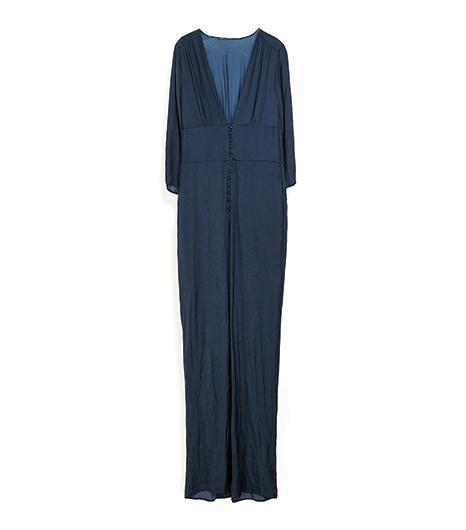 Zara Long Jumpsuit With Low Neckline