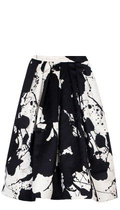 Tibi Splatter-Paint Skirt