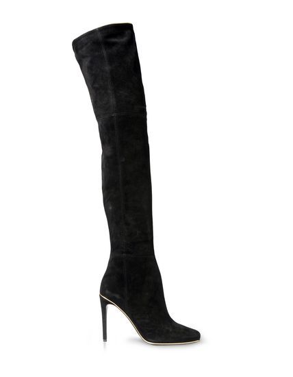 Balmain Thigh High Suede Boots
