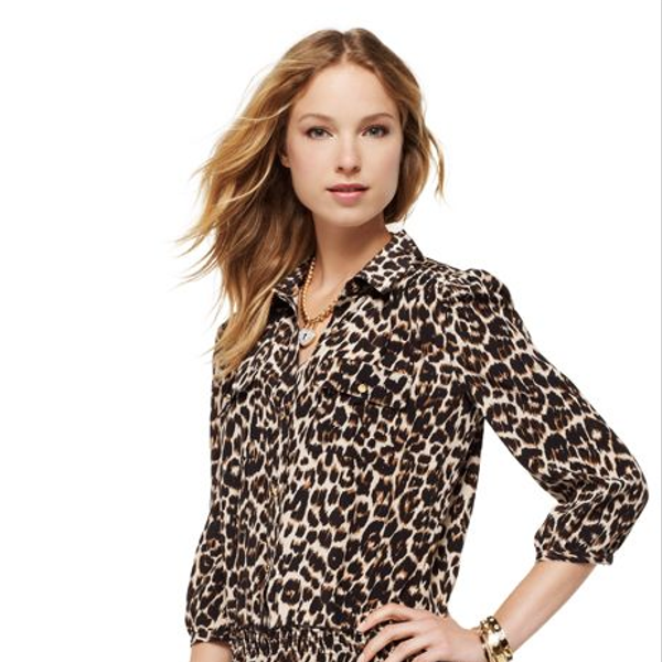 Juicy Couture Leopard Shirt Dress