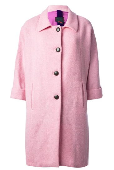 Femme Contrast Single Breasted Coat