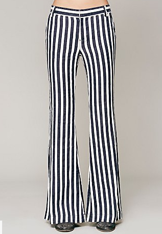 Free People Avery Striped Trouser