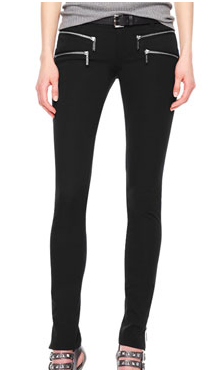 MICHAEL Michael Kors Zipper-Cuff Skinny Jeans