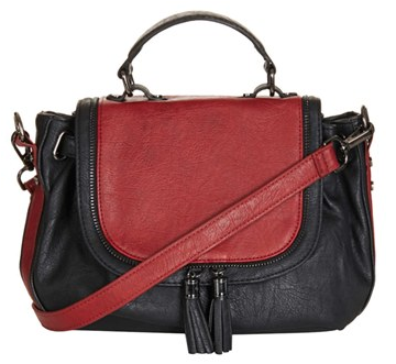 Topshop Two-Tone Crossbody Bag