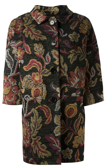 Love Moschino Floral Print Coat