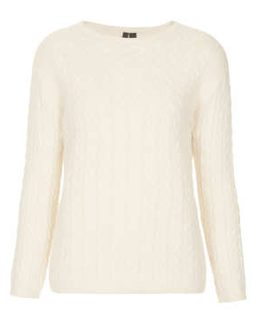 Topshop Cable Knit Jumper By Boutique