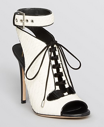 B Brian Atwood Lodosa Lace Up Open Toe Sandals