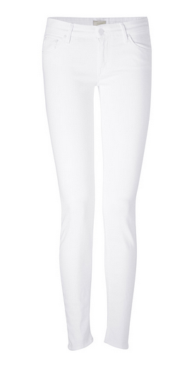 Mother The Looker White Denim Skinny Jeans