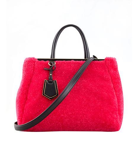 Fendi 2Jours Medium Shearling Fur Tote Bag