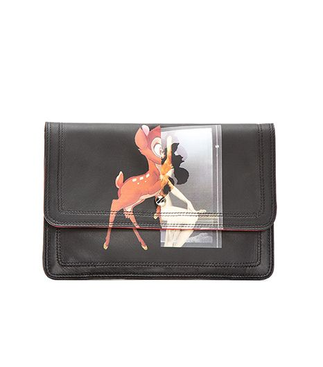 Givenchy Leather Baby Deer Print Clutch