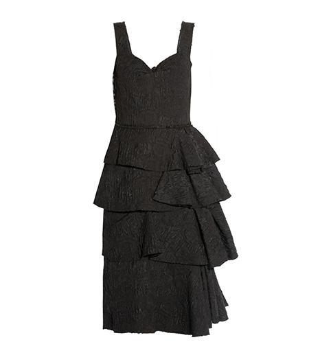 Lanvin Tiered Jacquard Dress
