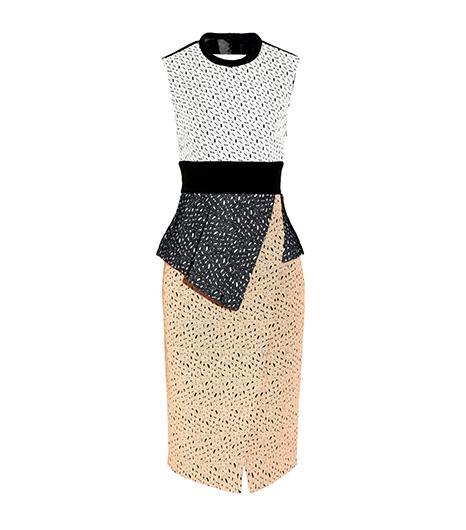 Proenza Schouler Embroidered Laser-Cut Dress