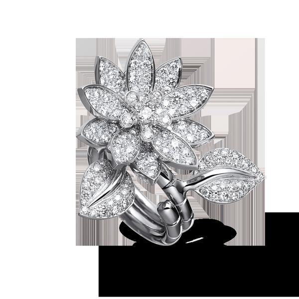 Van Cleef & Arpels  Lotus Between The Finger Ring