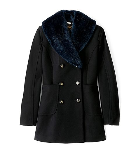Vivienne Westwood  Anglomania  Faux Fur Collar Soma Peacoat