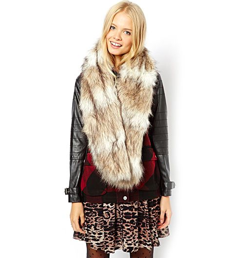 ASOS Faux Fur Long Collar