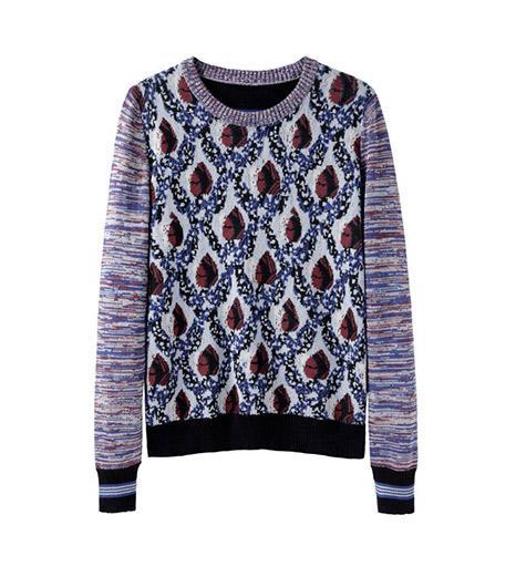 Suno  Suno Mixed Jacquard Pullover