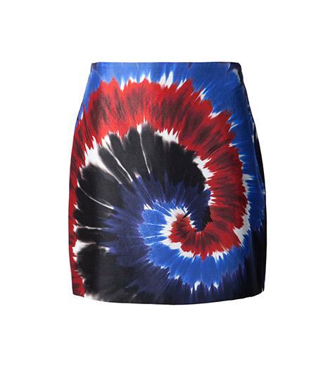 Rodarte   Rodarte Printed Tie-Dye Mini Skirt