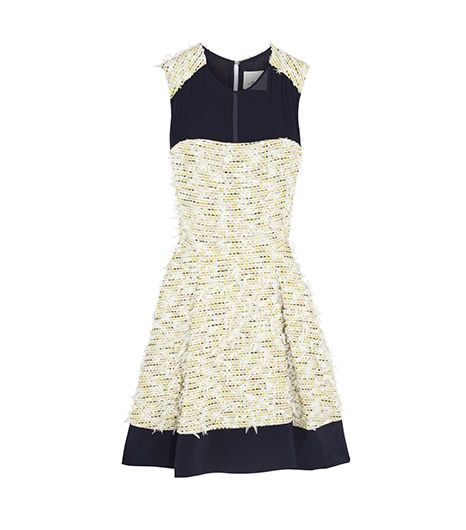 3.1  Phillip Lim  3.1  Phillip Lim Chiffon Paneled Textured-Tweed Dress