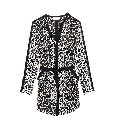 A.L.C. Leopard Print Shirt Dress