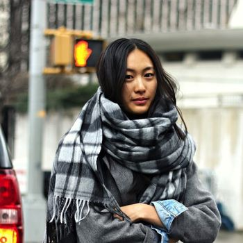 Cozy Plaid Scarves, 2 Ways: Winter Street Style Snaps From New York City