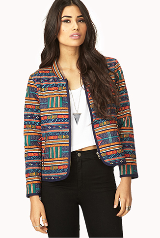 Forever 21  Eclectic Print Jacket