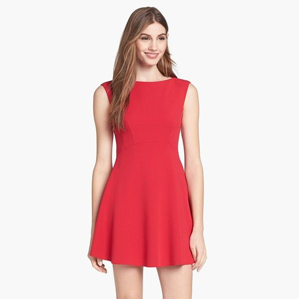 French Connection  Extended Sleeve Ponte Fit & Flare Dress