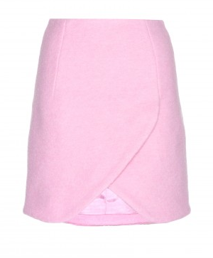 Carven Asymmetric Wool-Blend Skirt
